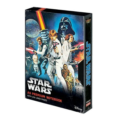 Star Wars A New Hope Poster A5 VHS Premium Notebook Note Pad